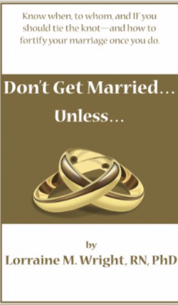 "Read more on Book Review: ""Don't Get Married…Unless…"" by Lorraine M. Wright, RN, PhD"